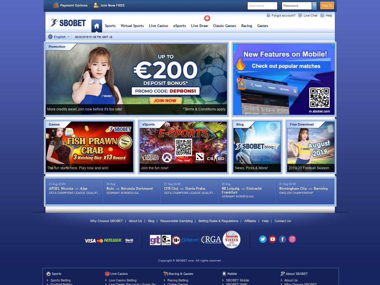 SboBet: th us tw Review - Bettingdb